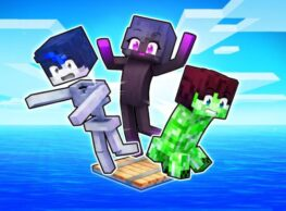 Playing As MOBS On A ONE BLOCK Raft!